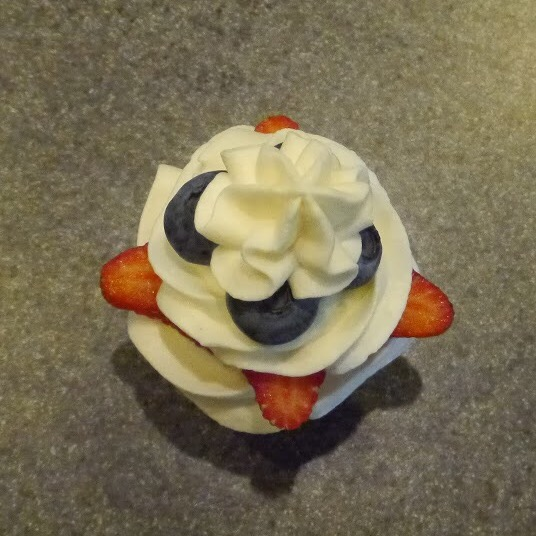 strawberry shortcake cupcake top
