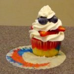 patriotic strawberry shortcake cupcake