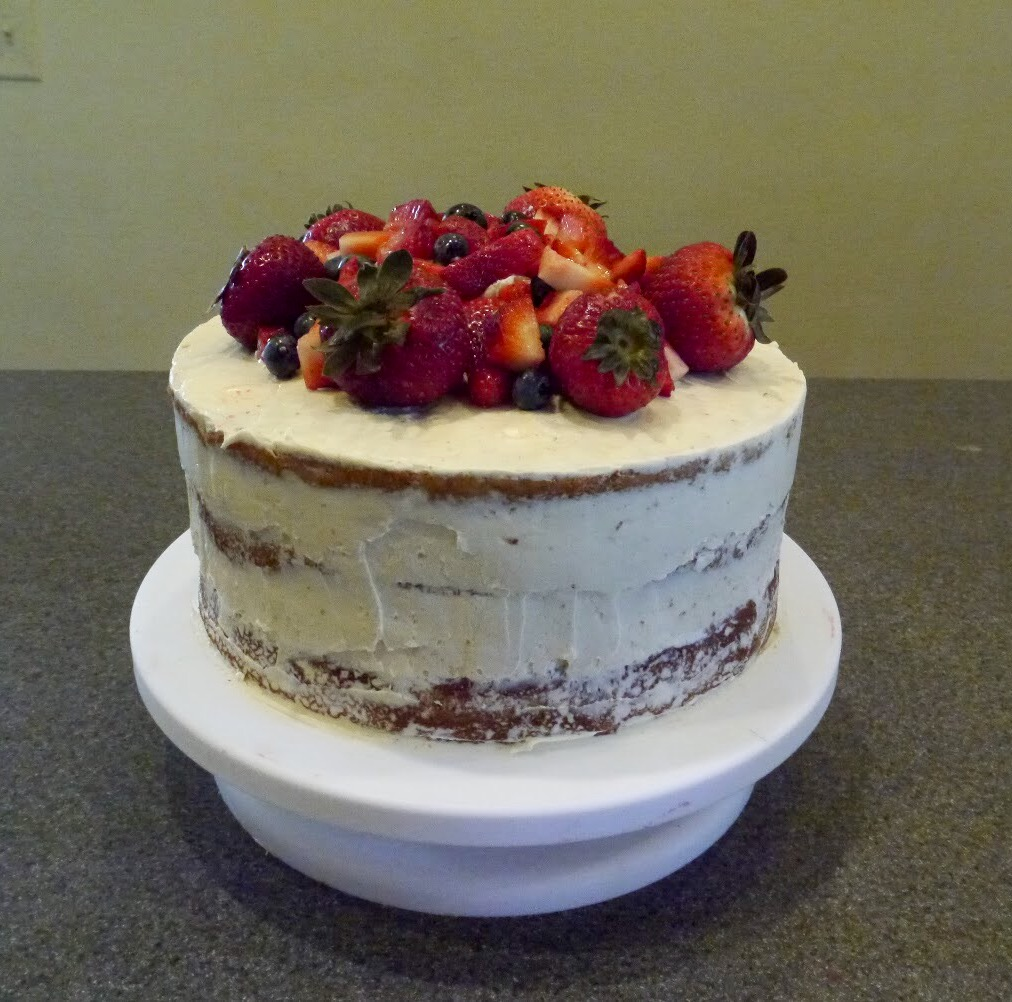 4th of July Honey Naked Cake