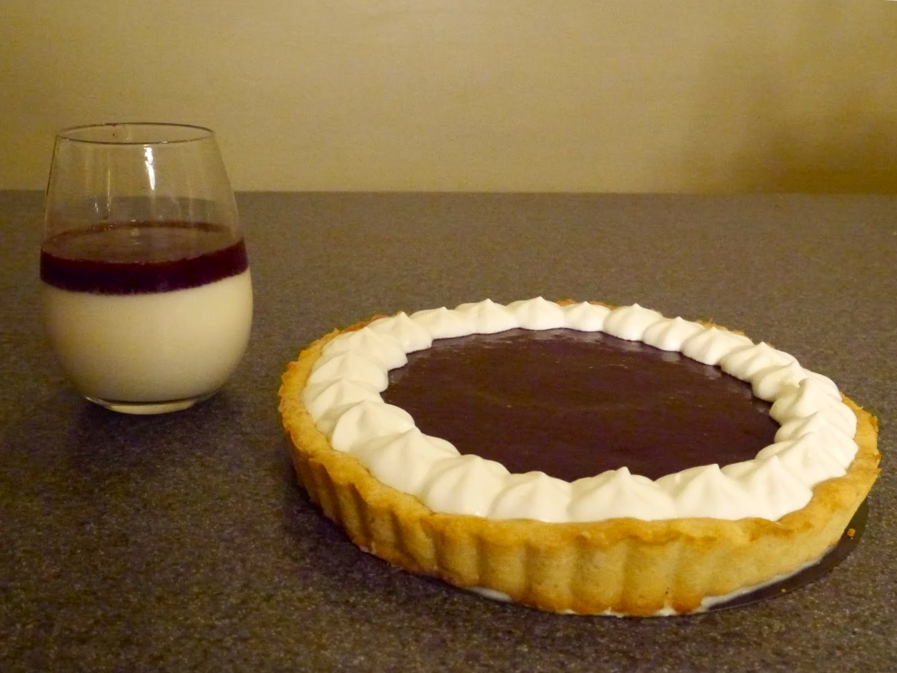 cherry panna cotta tart
