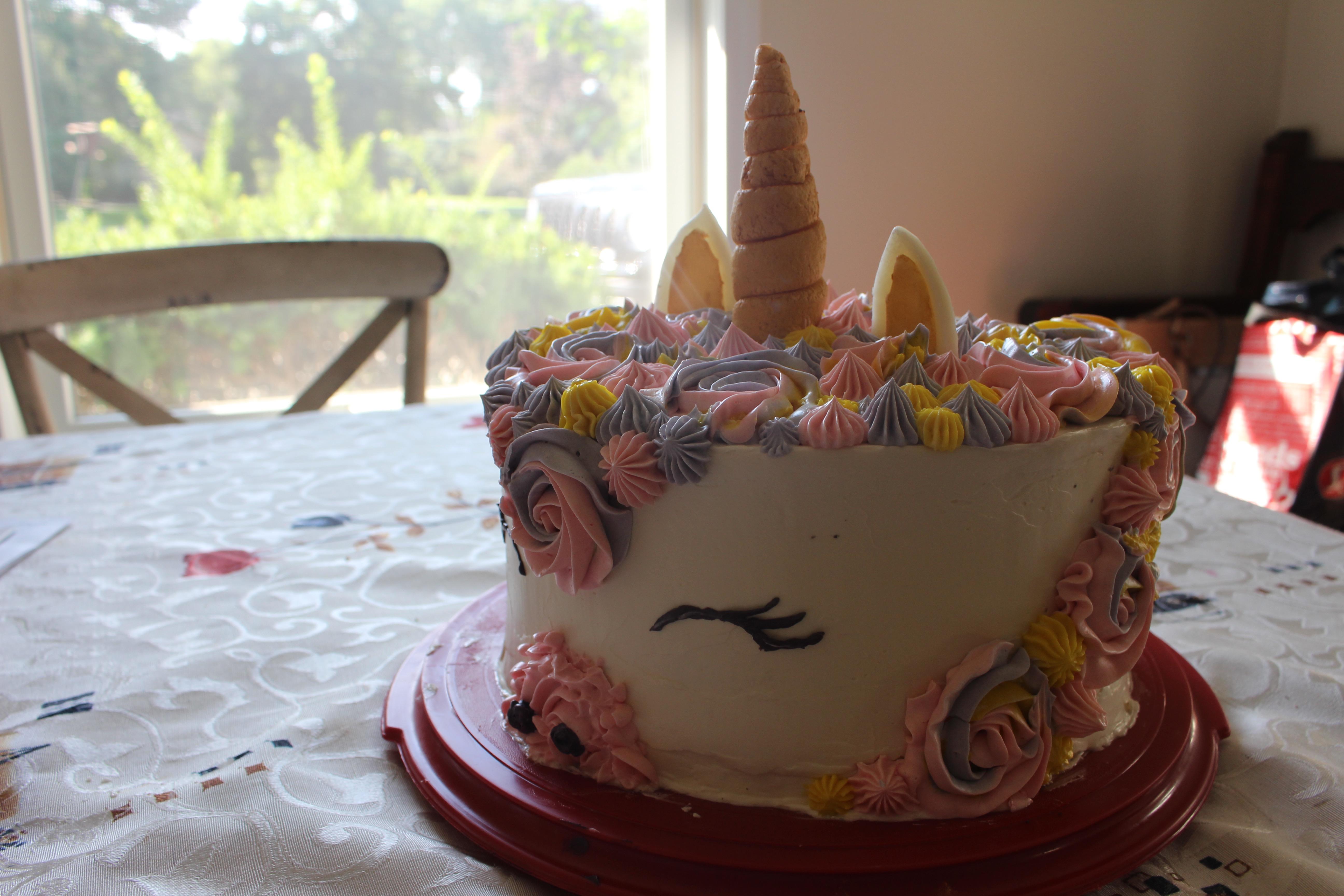 unicorn cake side