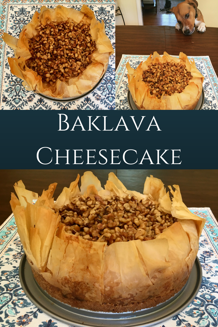 pin for baklava cheesecake