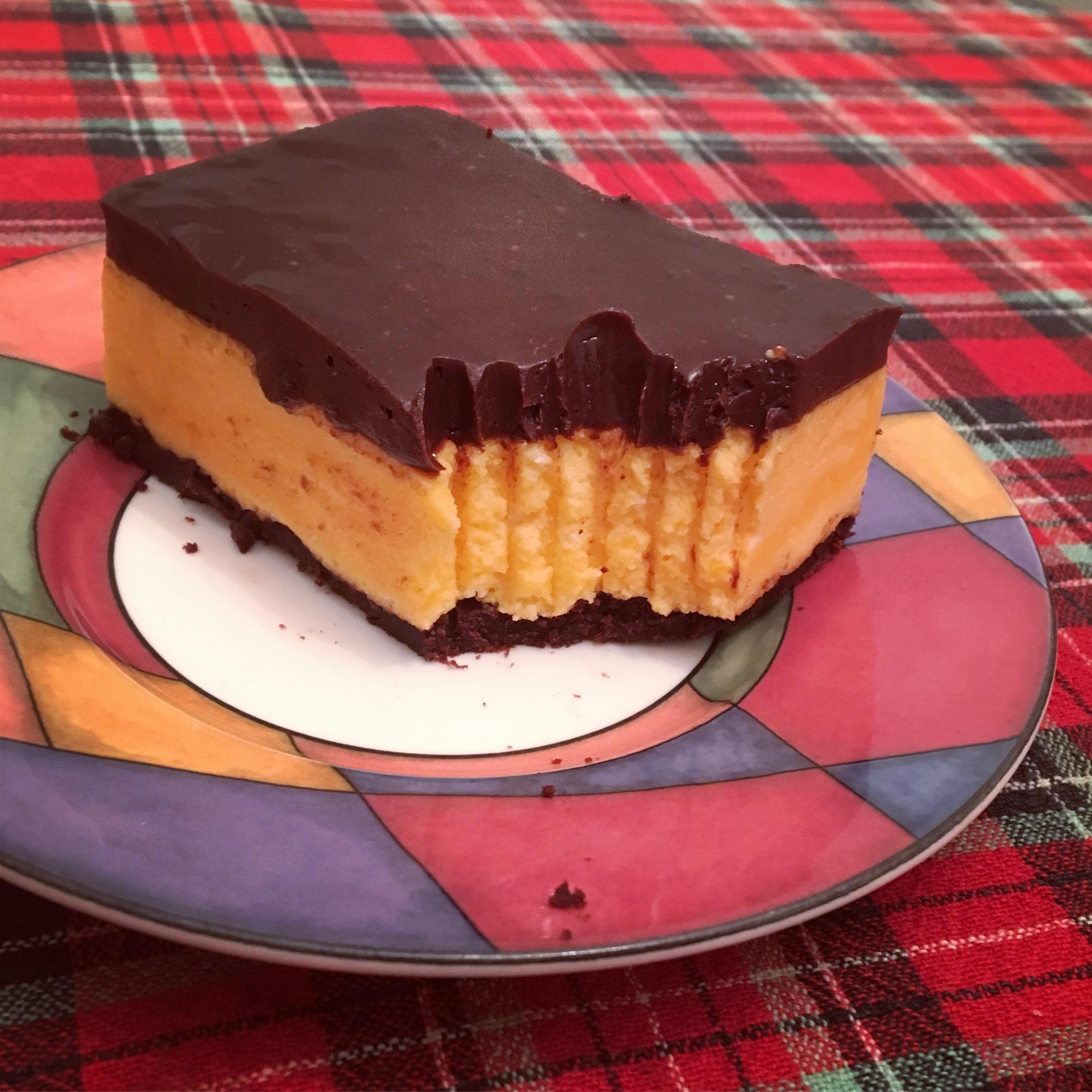 double chocolate orange mousse bar