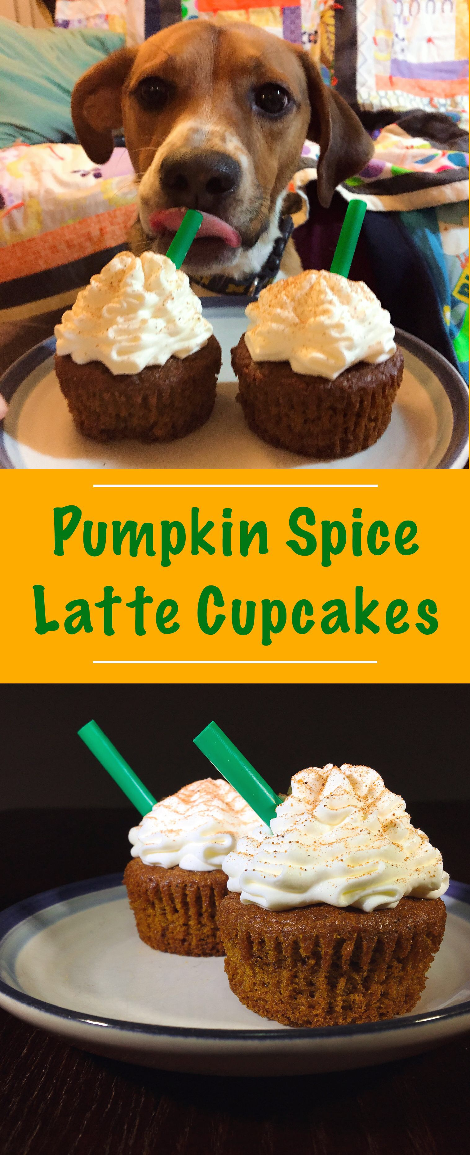 pin for pumpkin spice latte cupcakes